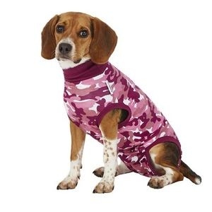 Suitical Recovery Suit for Dogs, Pink Camo, Small